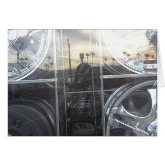 self portrait auto shop window greeting card