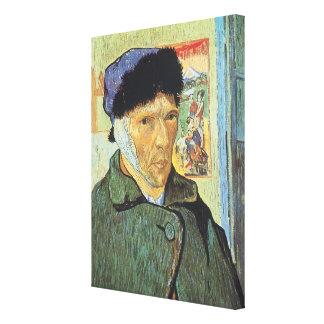 Self Portrait, Bandaged Ear by Vincent van Gogh Canvas Print