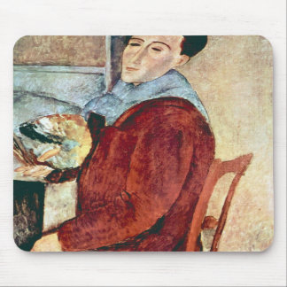Self Portrait by Amedeo Modigliani Mouse Pads