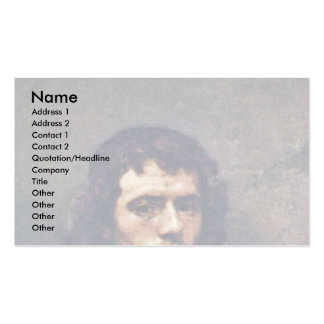 Self-Portrait.,  By Carel Fabritius Double-Sided Standard Business Cards (Pack Of 100)