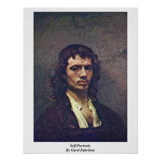 Self-Portrait. By Carel Fabritius Posters
