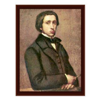 Self-Portrait. By Edgar Degas Postcard