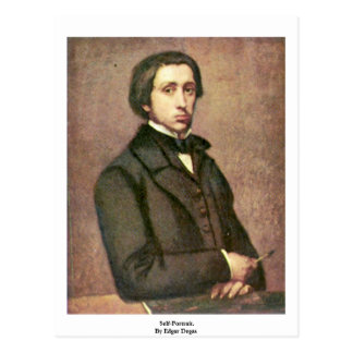 Self-Portrait. By Edgar Degas Post Card