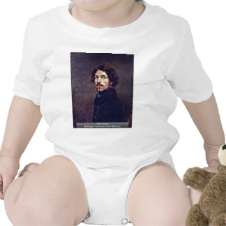 Self-Portrait By Eugène Ferdinand Victor Delacroix Baby Bodysuits