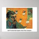 Self-Portrait By Eugene Henri Paul Gauguin Posters