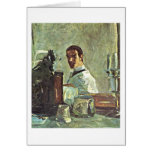 Self-Portrait By Henri De Toulouse-Lautrec Greeting Card