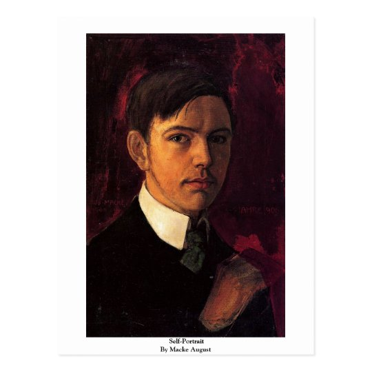 Self-Portrait By Macke August Postcard