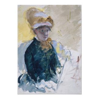 Self-Portrait by Mary Cassatt 5x7 Paper Invitation Card