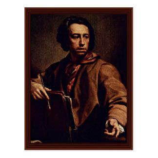 Self-Portrait By Mengs Anton Raphael Postcard