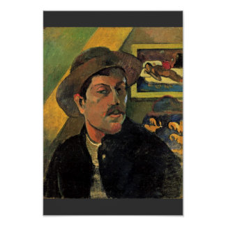 Self-Portrait By Paul Gauguin Best Quality Poster