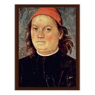 Self Portrait By Perugino Pietro (Best Quality) Postcards