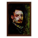 Self-Portrait By Pierre-Auguste Renoir Greeting Card