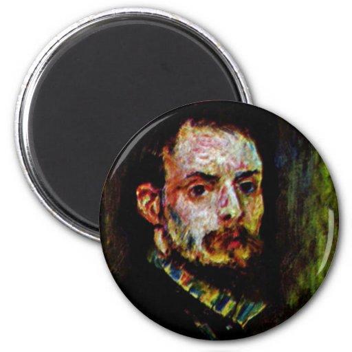 Self-Portrait By Pierre-Auguste Renoir Fridge Magnet