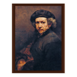 Self-Portrait,  By Rembrandt (Best Quality) Postcard