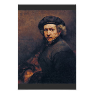 Self-Portrait By Rembrandt Best Quality Posters