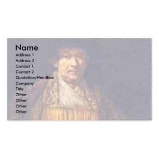 Self-Portrait By Rembrandt Harmensz. Van Rijn Business Card Templates