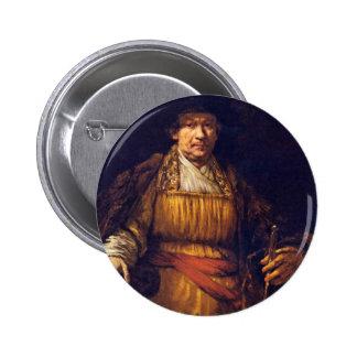 Self-Portrait By Rembrandt Harmensz. Van Rijn Pinback Buttons