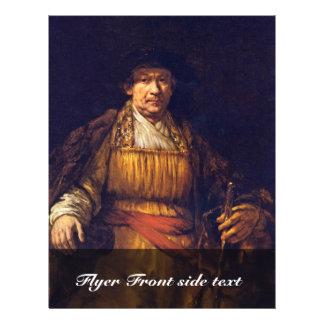 Self-Portrait By Rembrandt Harmensz. Van Rijn Full Color Flyer