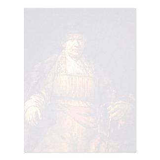 Self-Portrait By Rembrandt Harmensz. Van Rijn Custom Letterhead