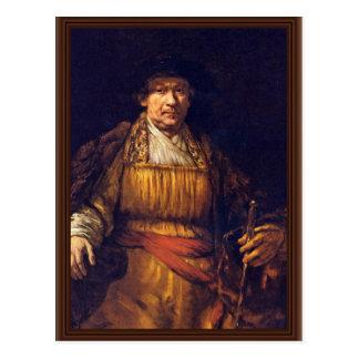 Self-Portrait By Rembrandt Harmensz. Van Rijn Postcards