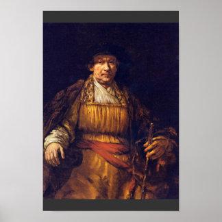 Self-Portrait By Rembrandt Harmensz. Van Rijn Posters