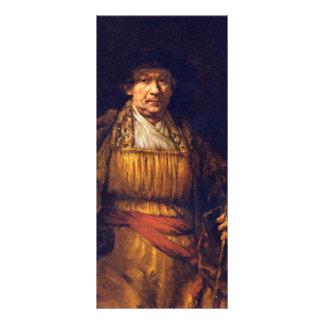 Self-Portrait By Rembrandt Harmensz. Van Rijn Rack Card