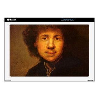 "Self-Portrait by Rembrandt Harmenszoon van Rijn Decals For 17"" Laptops"