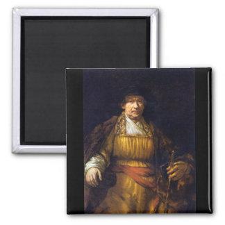 Self-Portrait by Rembrandt Harmenszoon van Rijn Refrigerator Magnets