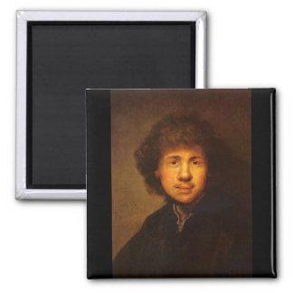 Self-Portrait by Rembrandt Harmenszoon van Rijn Magnet