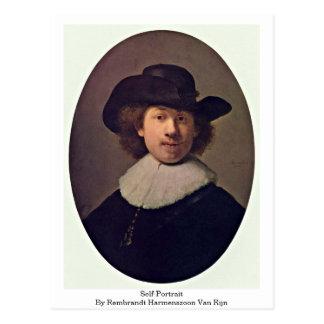 Self-Portrait By Rembrandt Harmenszoon Van Rijn Postcard