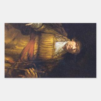 Self-Portrait by Rembrandt Harmenszoon van Rijn Rectangular Sticker