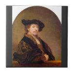 Self-Portrait by Rembrandt Harmenszoon van Rijn Tile