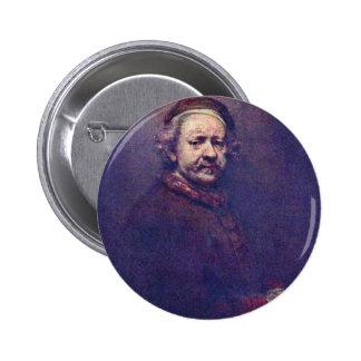 Self-Portrait. By Rembrandt Van Rijn 2 Inch Round Button