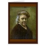 Self-Portrait  By Rembrandt Van Rijn Greeting Cards