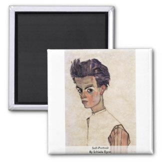 Self-Portrait By Schiele Egon Magnet