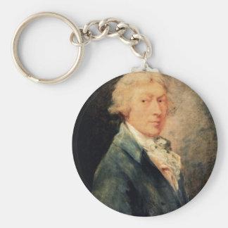 Self-Portrait By Thomas Gainsborough Key Chains