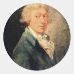 Self-Portrait By Thomas Gainsborough Round Sticker