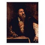 Self-Portrait By Titian Customized Letterhead