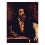 Self-Portrait By Titian Flyer Design