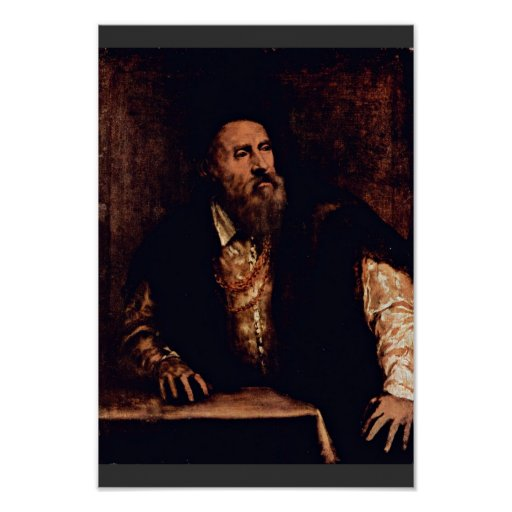 Self-Portrait By Titian Poster