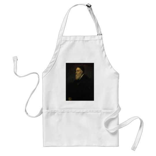 Self Portrait by Titian, Renaissance Art Adult Apron