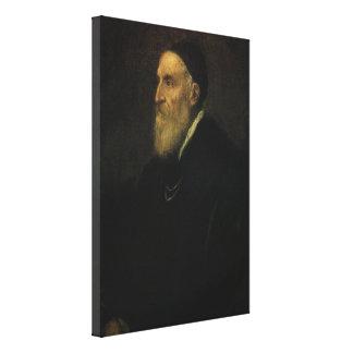 Self Portrait by Titian, Renaissance Art Canvas Print