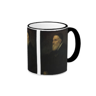 Self Portrait by Titian, Renaissance Art Ringer Mug