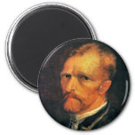 Self Portrait by Vincent van Gogh 1886 2 Inch Round Magnet