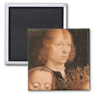 Self Portrait, c.1509 2 Inch Square Magnet