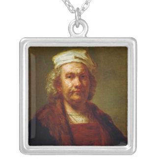 Self Portrait, c.1660-63 Square Pendant Necklace