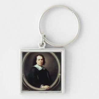Self portrait, c.1670-73 Silver-Colored square keychain
