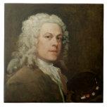 Self Portrait, c.1735-40 (oil on canvas) Tiles