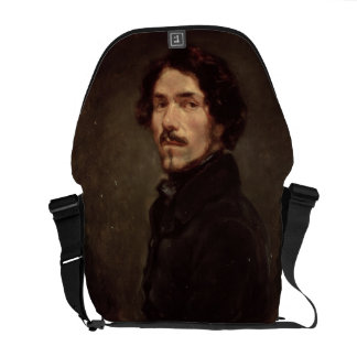 Self portrait, c.1840 (oil on canvas) (see also 16 courier bag