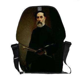 Self Portrait, c.1860-62 (oil on canvas) Messenger Bag